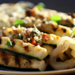 Grilled Zucchini and Onion with Warm Italian Vinaigrette